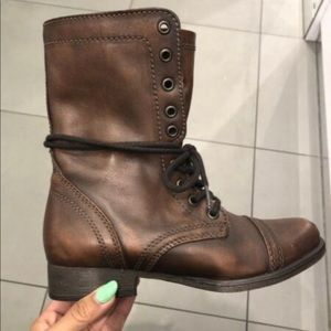 Steven madden brown leather boots